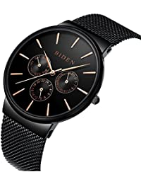 Watch Watches Men Stainless Steel Classic Luxury Business Casual Watches Waterproof Multifunctions Quartz Milanese...