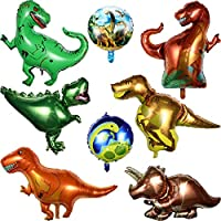 Bingcute Dinosaur Balloons 3D Stand Dinosaur Inflatable Foil Balloons, Weddings Birthday Jungle Themed Party Decorations 8 Pieces, Party Birthday Baby Shower Decorations