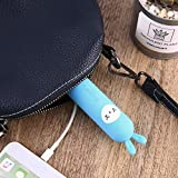 T11 Cute Cartoon Form Portable Power Bank Silikon Shell 2600 mAh Kapazität (Farbe: Blau)