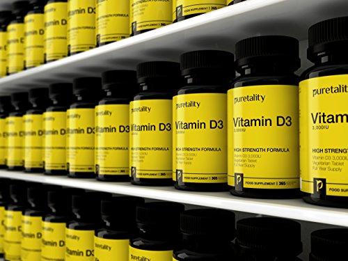 5658f36bc4a Vitamin D3 3000IU 365 Tablets (12 Month Supply) – High Strength Vitamin D  Cholecalciferol Tablets