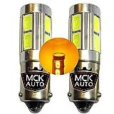 MCK borsa H21W Canbus lampadine LED ambra indicatori Blinkers CREE X6–luminosa sul mercato–sostituire il tuo dim lampadine. 800LM