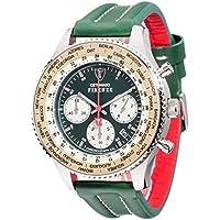 Detomaso DT1045-B Orologio da Polso, Cronografo da Uomo, Cinturino in Pelle, Colore Verde
