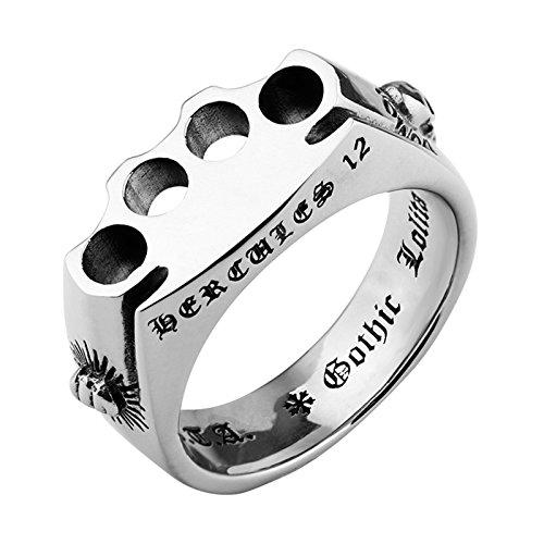 Aienid Männer Ringe Silber Teufels Faust Ring Männer Silber ()