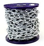 Catena di sicurezza in acciaio zincato a caldo, con bobina, per carichi pesanti