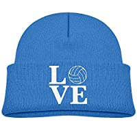 Qialia Fashion Love Volleyball Printed Toddlers Baby Winter Hat Beanie