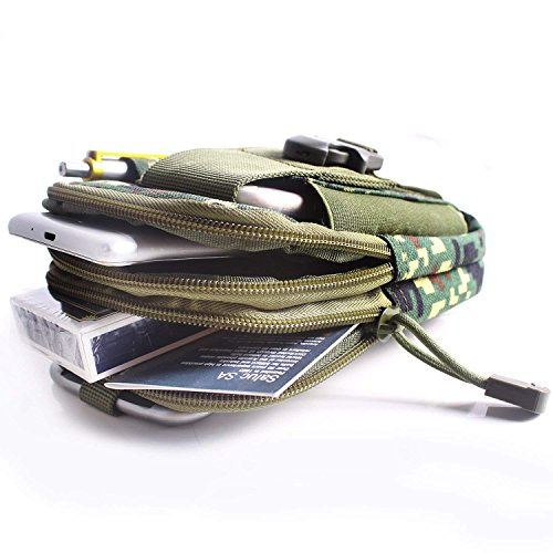 51Jb6nyfryL. SS500  - Unigear Molle Pouch, Compact EDC Utility Tactical Multi-Purpose Gadget Tool Waist Bag Pack with Extra Aluminum Carabiner
