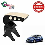 #6: myTVS TAR-21 Car Metallic Dual Tone Armrest-Black & Beige for Honda Amaze
