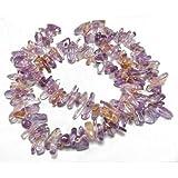 Filo 85+ Porpora/D'Oro Ametrino ca. 6 x 18mm Chips Lunghe Perline - (GS5003) - Charming Beads