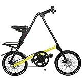 STRiDA EVO 18' Klapprad Faltrad leichtes City Bike 18 Zoll (Schwarz / Neongelb)