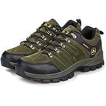 Yajie-shoes Zapatos atléticos para Exteriores para Hombres Afterburn Zapatos Deportivos con Cordones con Memoria