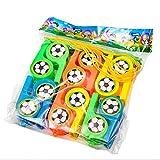 12 Bambini Football Fischietti Riempitivi per Borse da Party per Eventi, Eventi di Calcio o Feste (Arancione + Giallo + Verde + Blu)