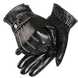 Zarupeng Mens Luxuriöse PU-Leder-Winter-Super-Driving warme Handschuhe
