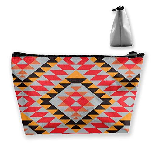 e Portable Travel Cosmetic Native Pattern Netter Reißverschluss Trapez Geldbörse für Geschäftsreisen ()