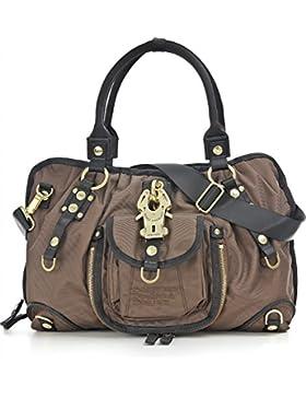 GEORGE GINA & LUCY, Damen Handtaschen, Schultertaschen, Umhängetaschen, Shopper, Braun, 44 x 29 x 12,5 cm (B x...