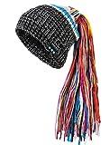 CoCo Fashion Wireless Bluetooth Mütze Strickmütze Mütze Braid Musik Funkkopfhörer Stereo-Lautsprecher-Mikrofon Winter Sport Beanie Kompatibel mit Smartphones, Handys, iPhone, iPad, Laptops
