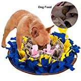 FREESOO Schadstofffreies Hundespielzeug Schnüffelteppich Schnüffelmatte Katzen Hunde Futtermatte Trainingsmatte Hunde Blau