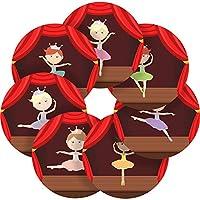 Graphic Flavour Beautiful Ballerinas Reward Sticker Labels, Children, Parents, Teachers