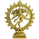 Shiva NATARAJA laiton hauteur 17cm Figurine cuivre jaune Statuette Hindouisme Bouddhisme Artisanat indien