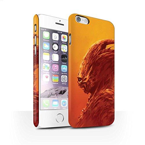 Offiziell Chris Cold Hülle / Matte Snap-On Case für Apple iPhone 6 / Raubtier/Jäger Muster / Wilden Kreaturen Kollektion Raubtier/Jäger
