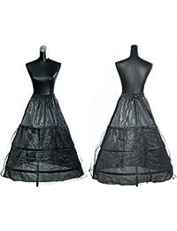 HIMRY® Reifrock Petticoat 3 Ring verstellbar, Underskirt Unterrock, One Size, für Gr. 34 bis Gr.50, Weiss, KXB-0005