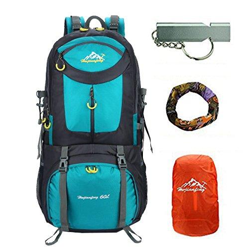 40l / 50l / 60l / 80lmountaineering zaino outdoor leggero zaino per bici arrampicata trekking zaino viaggi sport daypack campeggio trekking zaino impermeabile (lago blu, 60l)