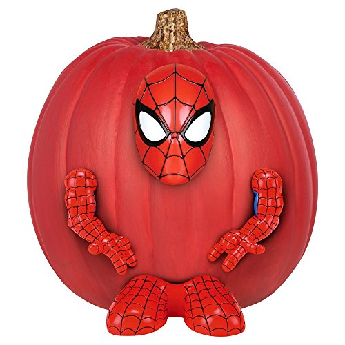 Pumpkin Bastel Kit Kürbis Dekorations Set mit Figur Steck Teile Spiderman