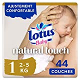 Lotus Baby Natural Touch - Couches Taille 1 (2-5 kg/Nouveau-Né) - x44 couches -...