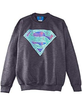 DC Comics Official Superman Glass Logo Jungen Sweatshirt