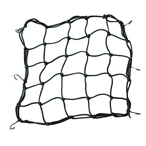 40 x 40cm Filet /à Bagages Araign/ée Elastique 60cm Sangle Bagage Elastique Noir pour V/élo Moto Net Moto Filet Transport pour Fixer Casque Bagage Sac