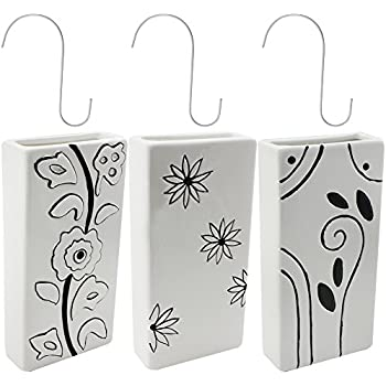 Luftbefeuchter 4-teiliges Set aus Keramik IKEBANA zur Befestigung am Heizk/örper Heizung Wasserverdunster Diffuser a1662