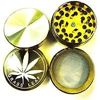 E-FAST Macina erba foglia oro metallo magnetica Pollinator 4Parte Crusher (4Parte (40mm)