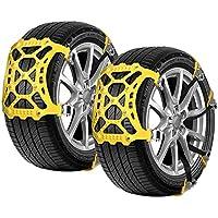 Cadenas de nieve para automóviles, 6 piezas Cadena de nieve de TPU mejorada para camiones ligeros / SUV / ATV Cadenas de seguridad de neumáticos universales de invierno