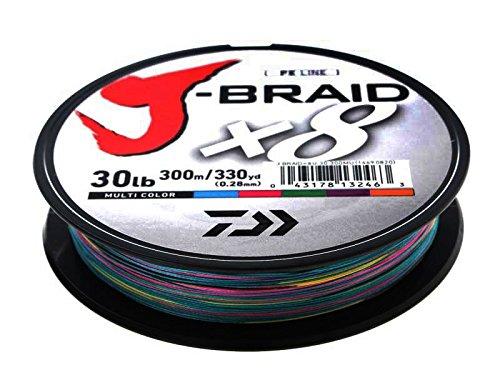 Daiwa J-Braid X8 0,24mm 22Kg 300m multicolor Geflochtene Schnur