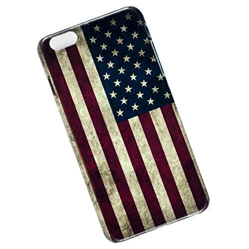 Slim Case for iPhone 6 Plus, 6s Plus. Tasche Cover. USA Flag.