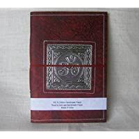 'Paperfreak: Vegan Leather Notebook A4with Metal Details > Om < (21x30)