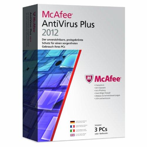McAfee Antivirus Plus 2012 – 3 User (inklusive kostenlose Upgrademöglichkeit auf Version 2013)
