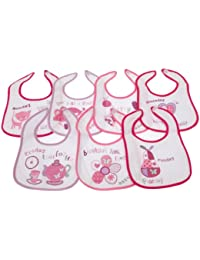 Baby Patterned 7 Days Of The Week Bibs in Boys & Girls