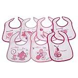 Bavoirs imprimés 7 jours de la semaine pour bébé - options fille ou garçon (lot...