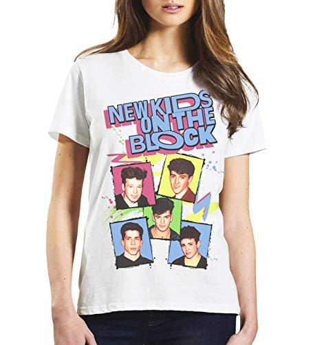 Ladies Cool Retro New Kids On The Block 80s T-Shirt