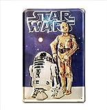 Star Wars Chinese Poster Bleschilder Retro Señal Metálica, Metal, Weiß, 30.0 x 20.0 x 1.0 cm