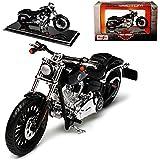 alles-meine GmbH Harley Davidson 2016 Breakout Schwarz 1/18 Maisto Modell Motorrad Auto mit individiuellem Wunschkennzeichen