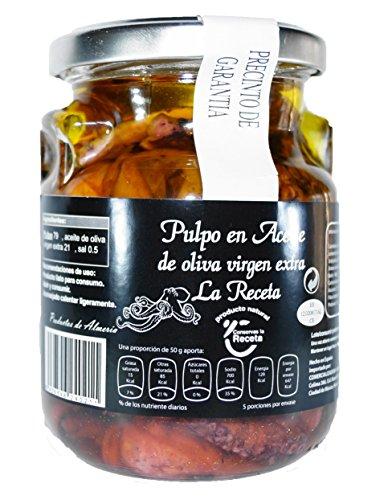 Conservas La Receta Pulpo Aceite de Oliva Virgen Extra - 250 gr