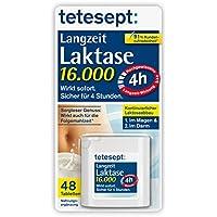 tetesept Langzeit Laktase 16.000 Laktase-Tabletten/Mit 4 Stunden Langzeit-Depot - kontinuierlicher Laktoseabbau in Magen & Darm - wirkt sofort/1 Dose à 40 Stück [Nahrungsergänzungsmittel]
