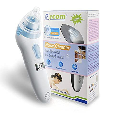 Home Care Wholesale® Electric nose cleaner, baby nasal aspirator, 3 sizes of silicone tips, hygienic disposable caps