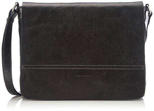 Gerry Weber Damen Lugano Flap Bag M Umhängetaschen, Schwarz (black 900), 29x22x7 cm