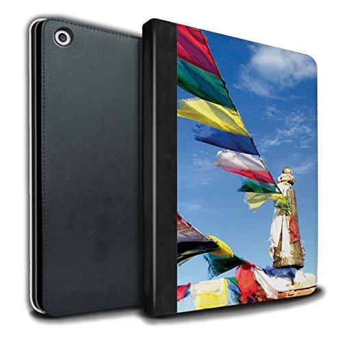 �lle/Case/Brieftasche für Apple iPad 9.7 (2017) Tablet/Gebetsfahnen Muster/Innerer Frieden Kollektion ()