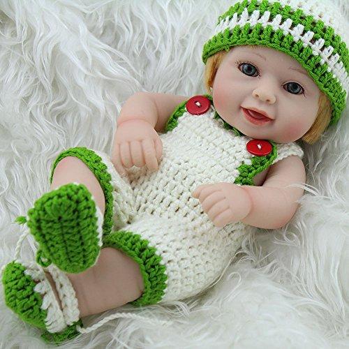 GUOHONG-CX Simulation Reborn Puppe Silikon in Das Wasser Mädchen Spielen Spielzeug Kinder Geburtstagsgeschenk 28cm