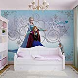 Disney Eiskönigin Elsa Anna Olaf - Forwall - Fototapete - Tapete - Fotomural - Mural Wandbild - (1635WM) - XXL - 312cm x 219cm - VLIES (EasyInstall) - 3 Pieces