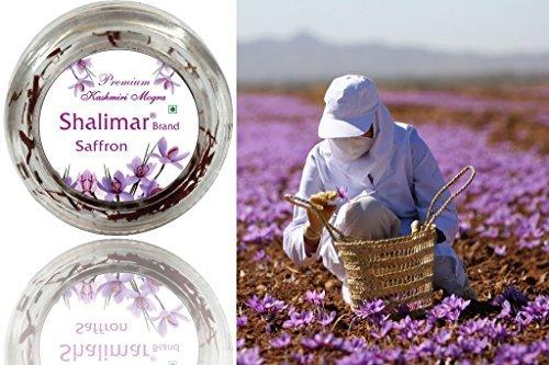 5grams Certified Grade A Shalimar Premium Organic Kashmir Saffron Kesar - World famous Shalimar Brand Saffron (1Pack of 5Grams)