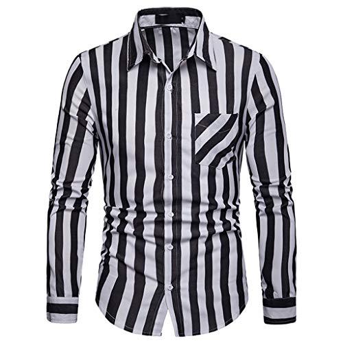 JYJM❤️Jacke Herren Winter Langarm Herren Langarm Streifenmalerei Große Größen Lässige Top Bluse Herren Regular Fit T-Shirt Basic T-Shirt Herren T-Shirt Crewneck Institutionals Stretch Slim Cneck